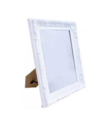 Espelho Moldurado Branco 28x23cm
