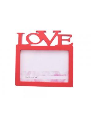 Porta Retrato Vermelho Love 1 foto 10x15cm