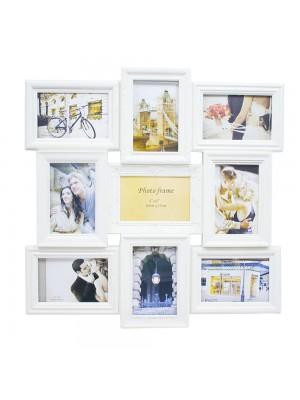 Multi Porta Retrato Bege 9 Fotos 10X15cm