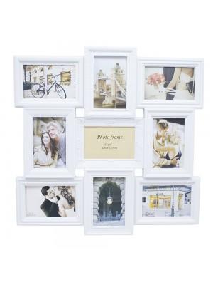 Multi Porta Retrato Branco 9 Fotos 10X15cm