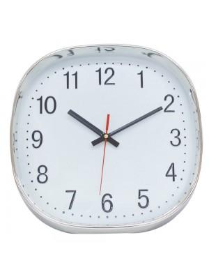 Relógio Parede Prateado 29.5x29.5cm