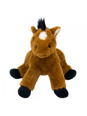 Cavalo Marrom Deitado 24cm - Pelúcia
