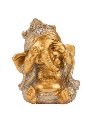 Ganesha Dourado Não Vejo 7cm
