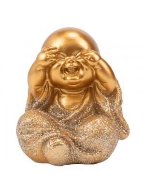 Monge Dourado Sentado Não Vejo 7cm