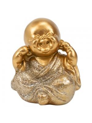 Monge Dourado Sentado Não Ouço 7cm