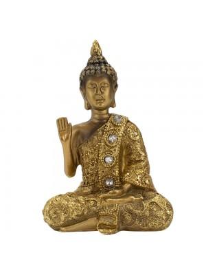 Buda Dourado Vitarka Mudra 12cm