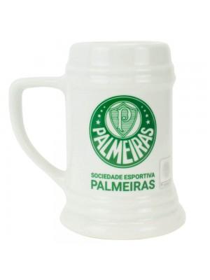 Caneca Porcelana Branca 500ml - Palmeiras