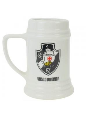 Caneca Porcelana Branca 500ml - Vasco