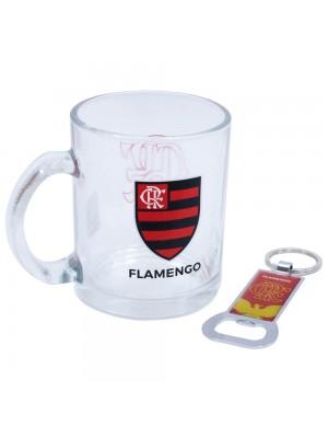 Caneca De Vidro Com Abridor De Garrafas 350ml - Flamengo