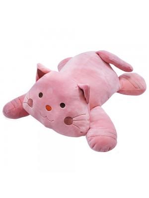 Gato Rosa Deitado 47cm - Pelúcia