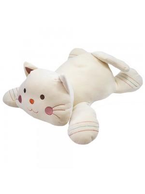 Gato Bege Deitado 47cm - Pelúcia