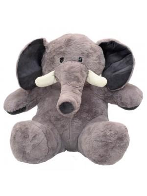 Elefante Cinza Sentado 46.5cm - Pelúcia