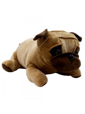 Cachorro Pug Marrom Deitado 46cm - Pelúcia