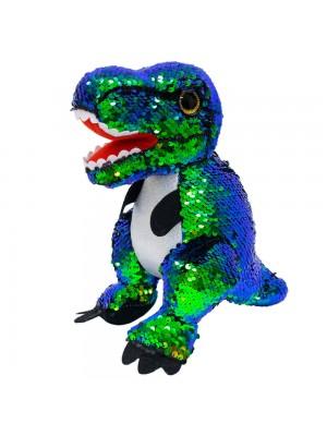 Dinossauro Tiranossauro Rex Lantejoulas 26cm - Pelúcia
