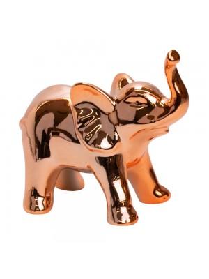 Elefante Porcelana Rosê 9cm
