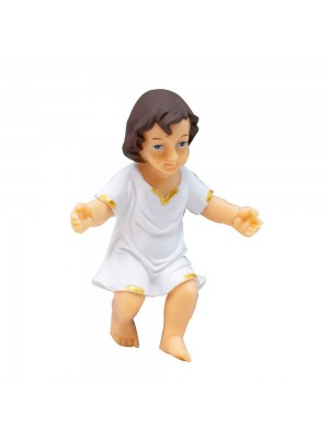 Menino Jesus Roupa Branca 8cm - Enfeite Plástico