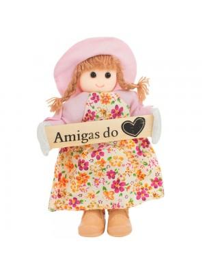 Boneca Placa Amigas do Coração 16cm
