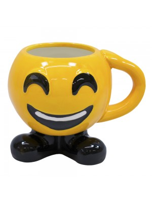 CANECA PORCELANA EMOTICON FELIZ 400ML