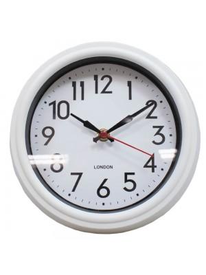 Relógio Parede Branco 21.5x21.5cm