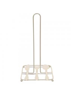 Suporte De Metal Para Papel Toalha Branco 30x15x15cm