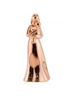 Mãe Criança Porcelana Rosê Modelo B 17cm