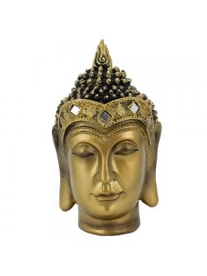 Busto Buda Dourado 15cm