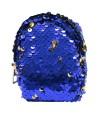 porta moeda lantejoula a zíper azul/dourado 10x8cm