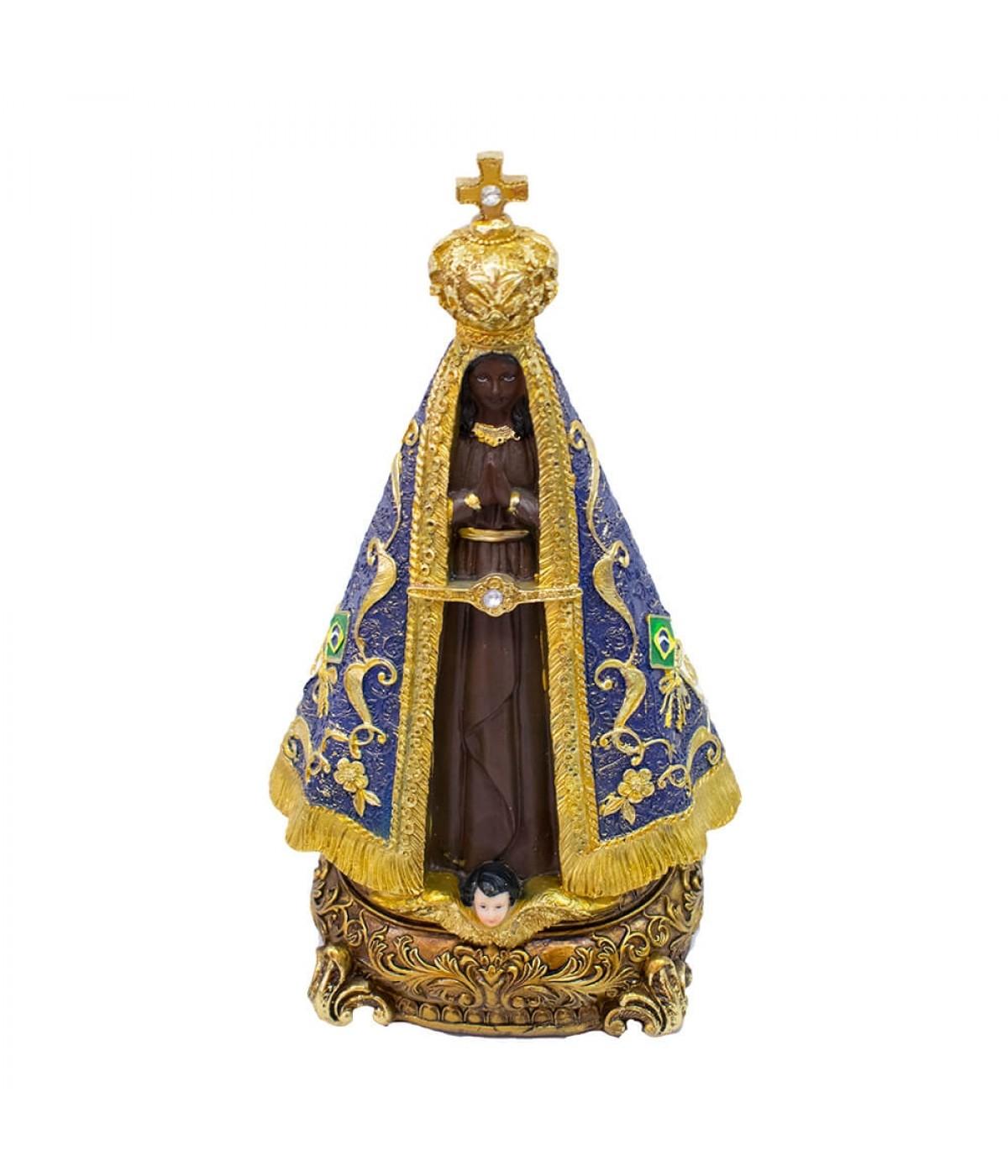 Nossa Senhora Aparecida 32cm - Enfeite Resina