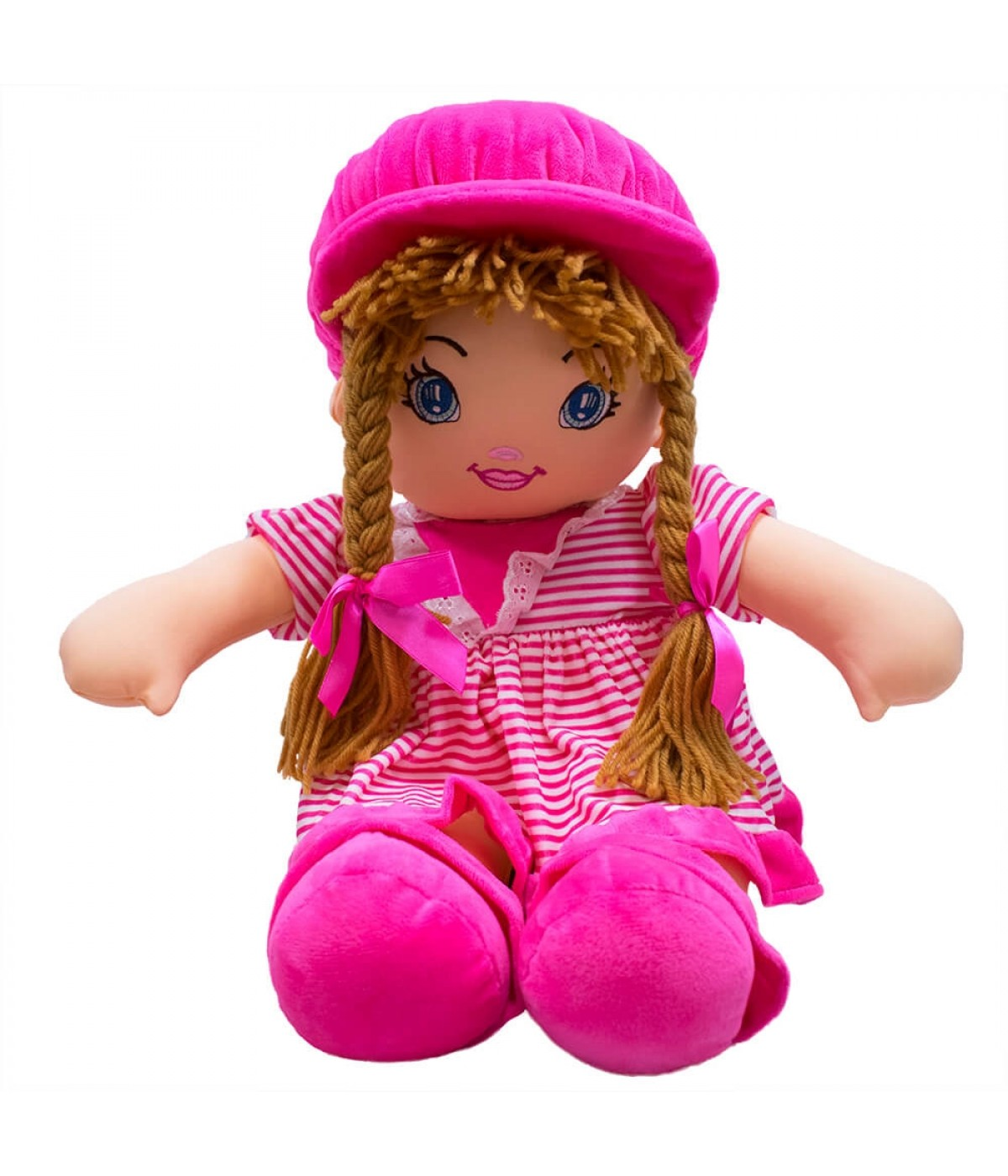 Boneca Pink Listras Com Chapéu 50cm ... 67c5b54656e