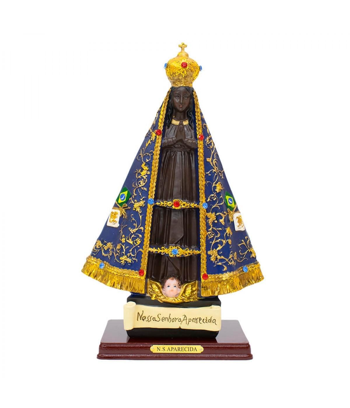 Nossa Senhora Aparecida 30cm - Enfeite Resina