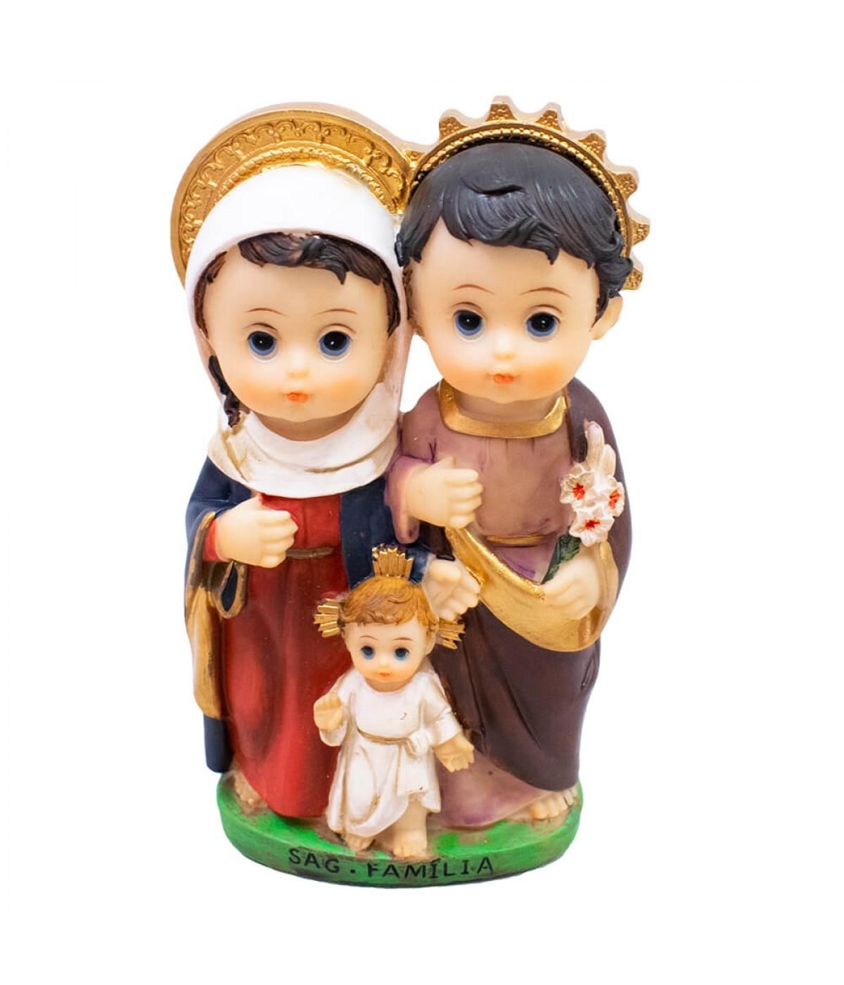 Sagrada Família 13cm Infantil - Enfeite Resina