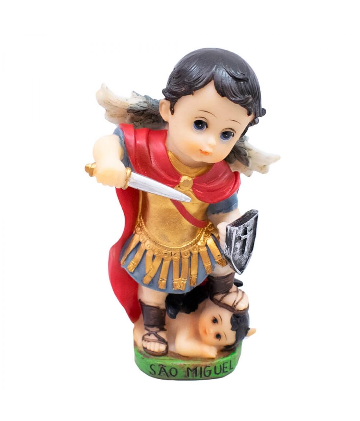 São Miguel 13cm Infantil - Enfeite Resina