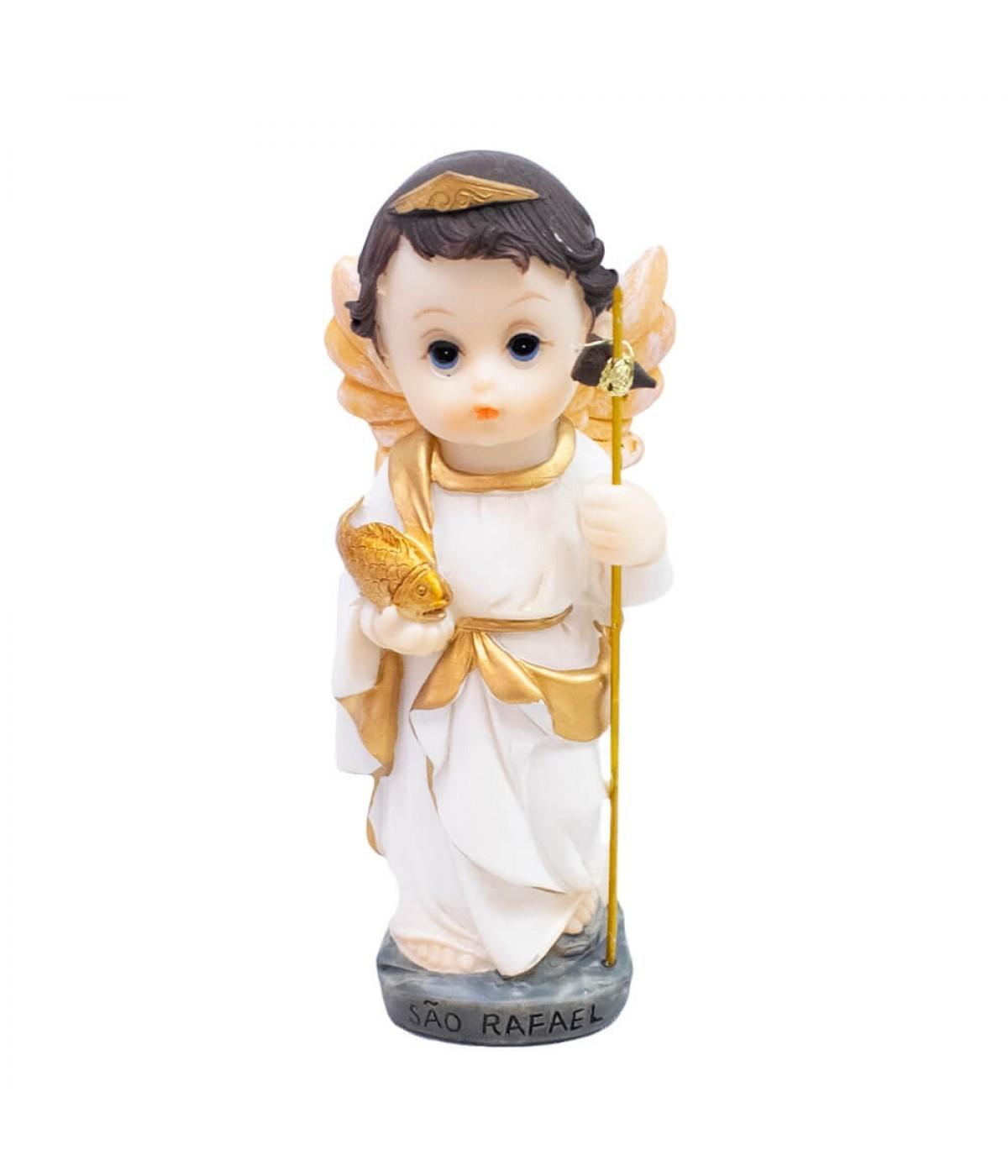São Rafael 13cm Infantil - Enfeite Resina