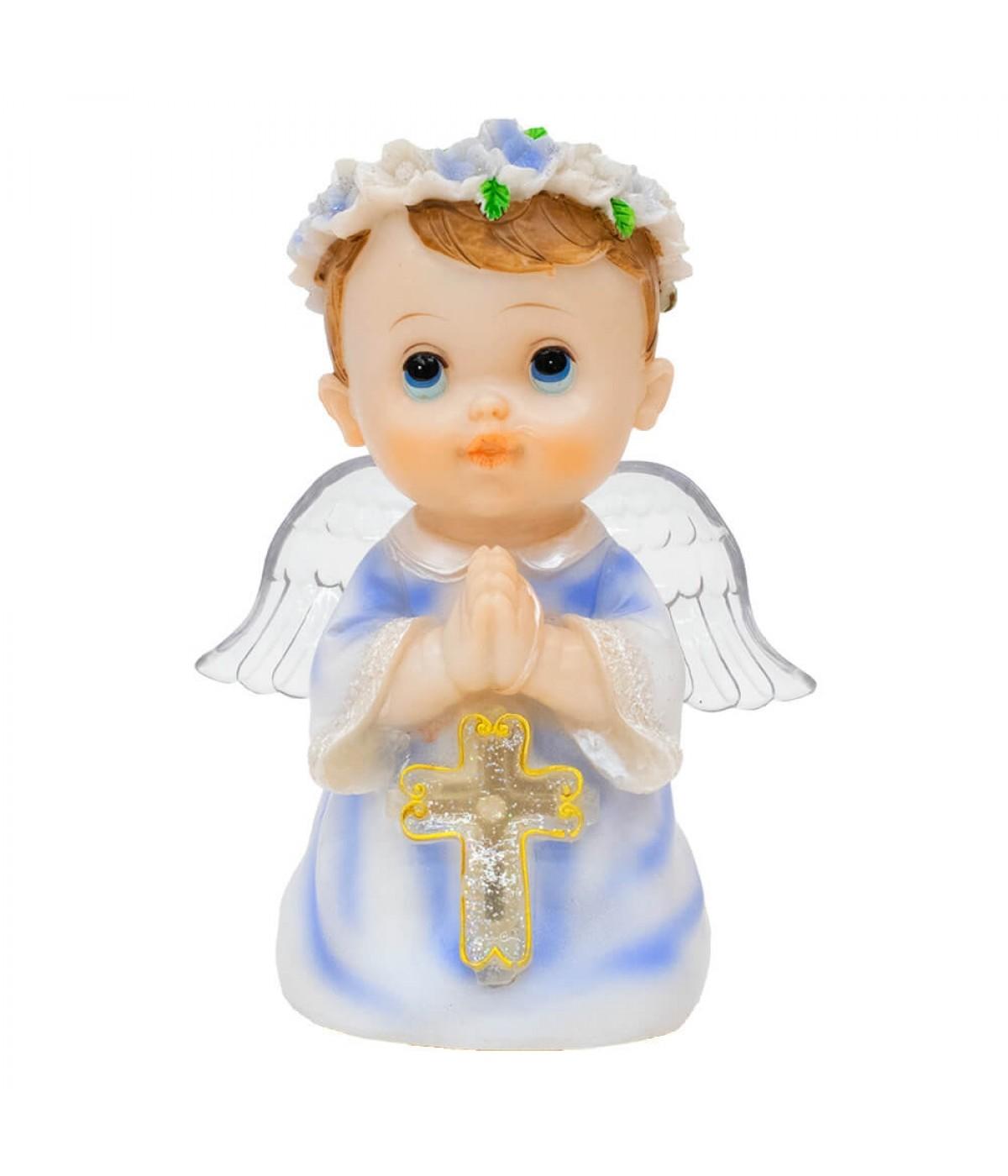 Anjinho Azul Oração 17cm - Enfeite Resina