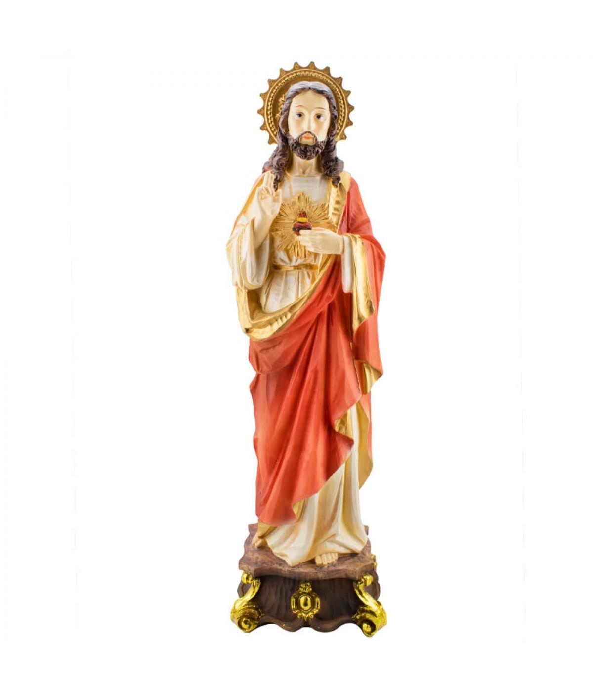 Sagrado Coração De Jesus 60cm - Enfeite Resina