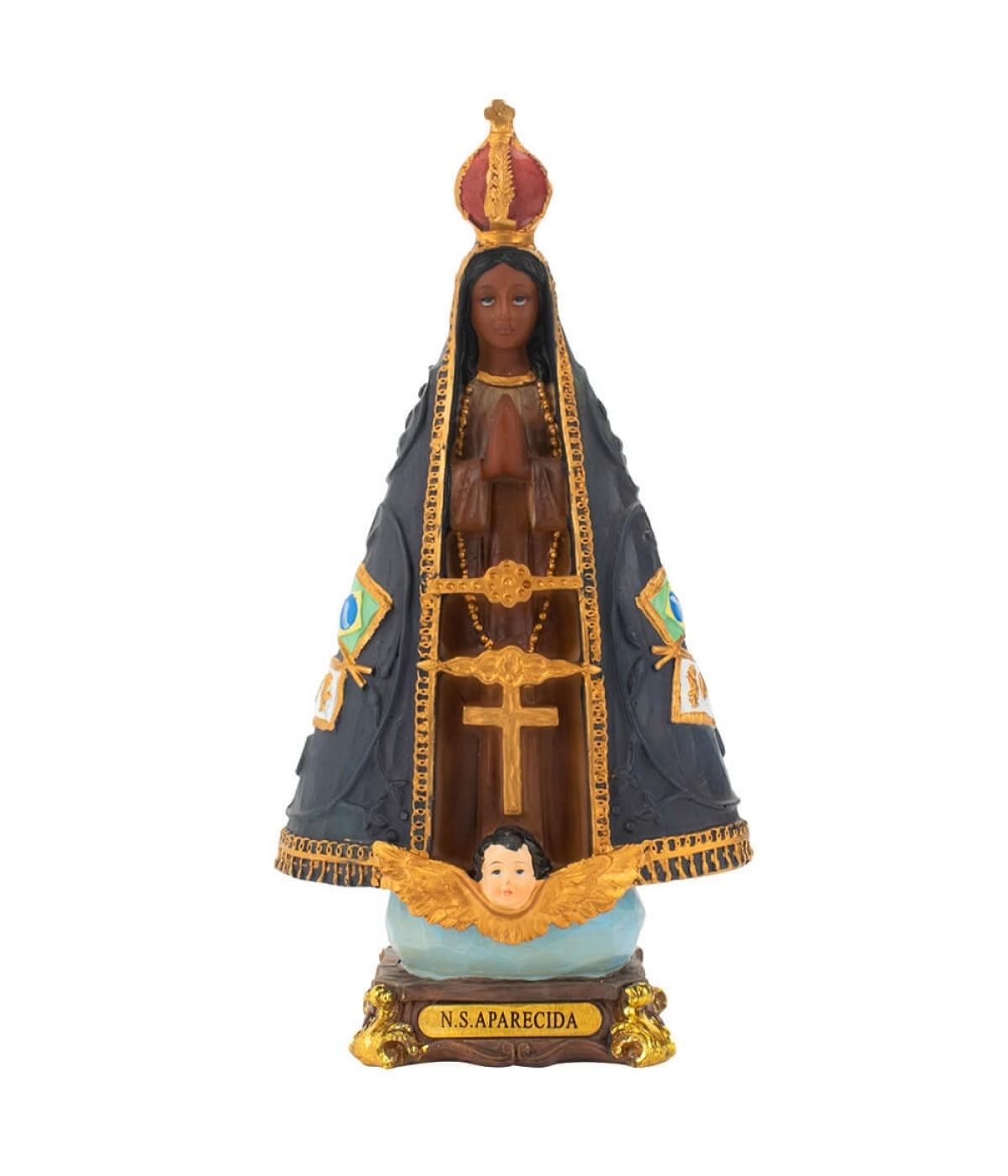Nossa Senhora Aparecida 21cm - Enfeite Resina