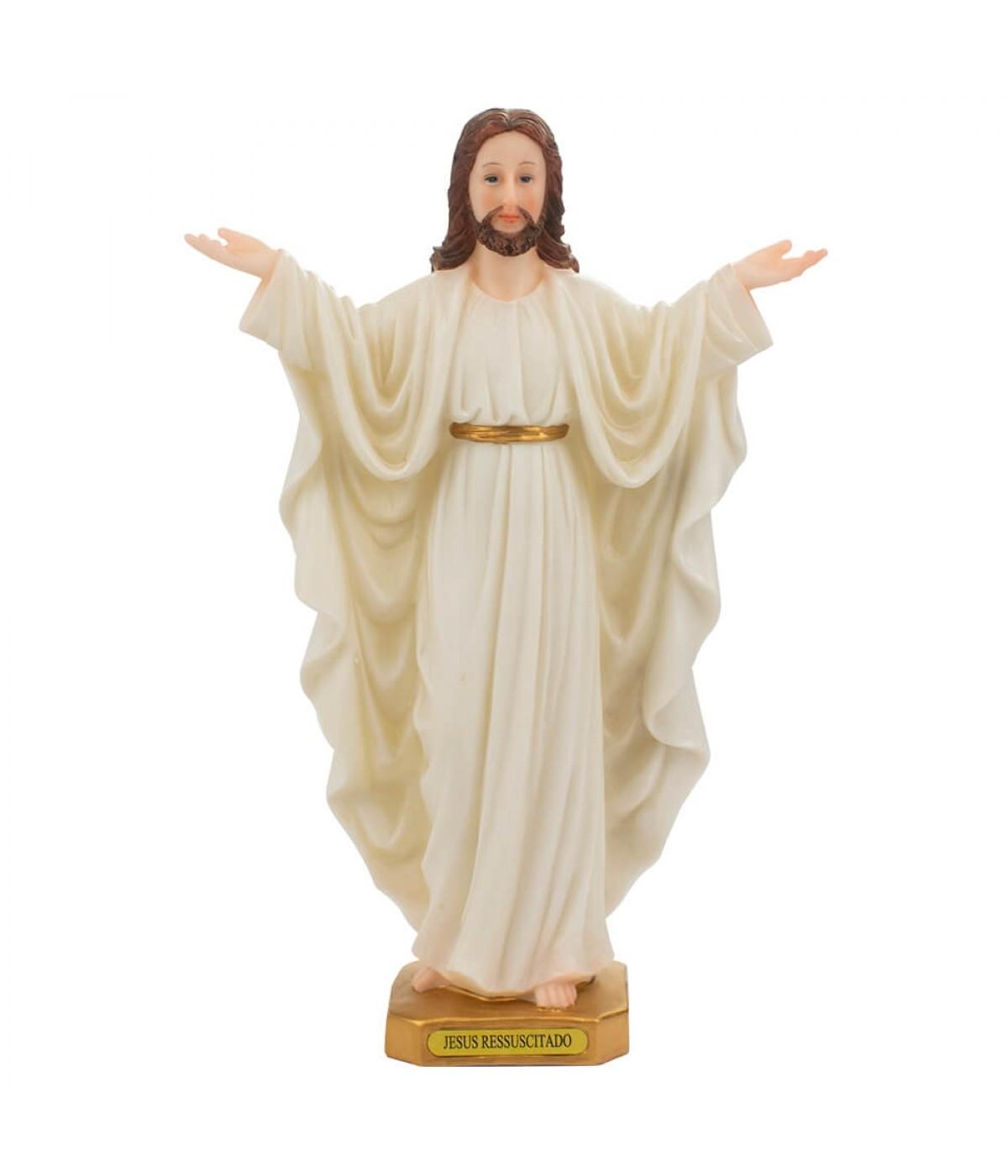 Jesus Ressuscitado 30cm Imagem Religiosa ALJB158612M