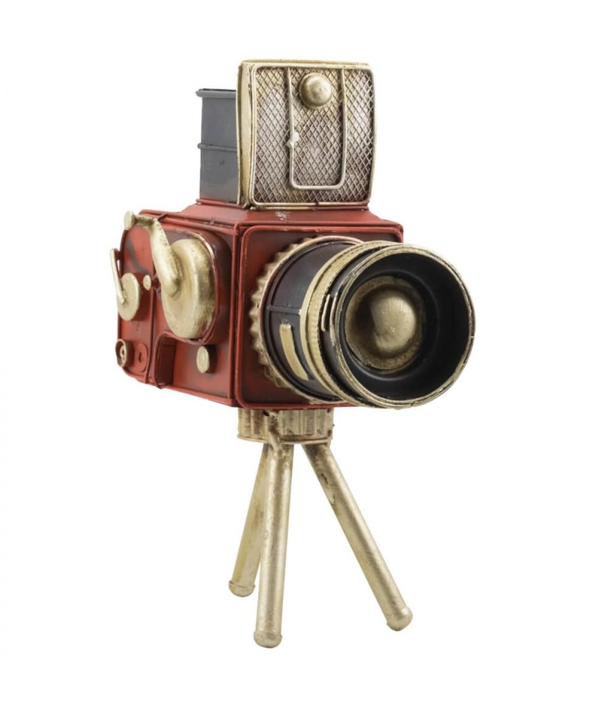 Filmadora Com Tripé 22.5cm Estilo Retrô - Vintage