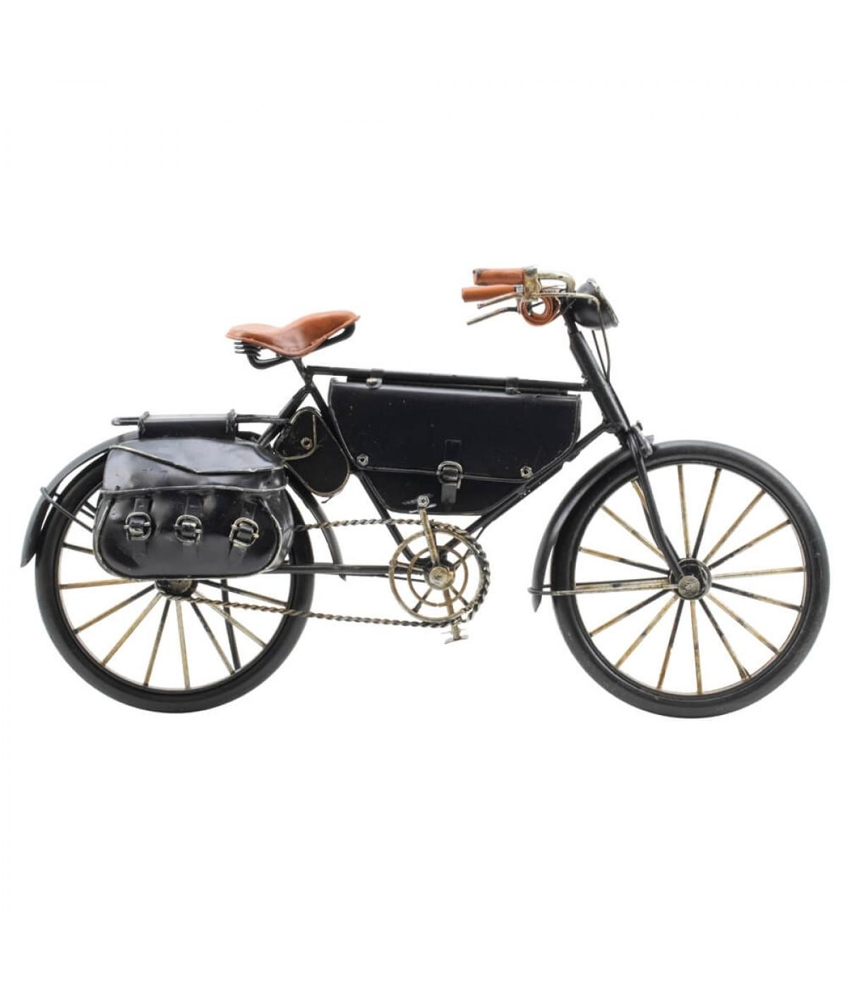 Bicicleta Preta 2 Bolsas 31cm Estilo Retrô - Vintage