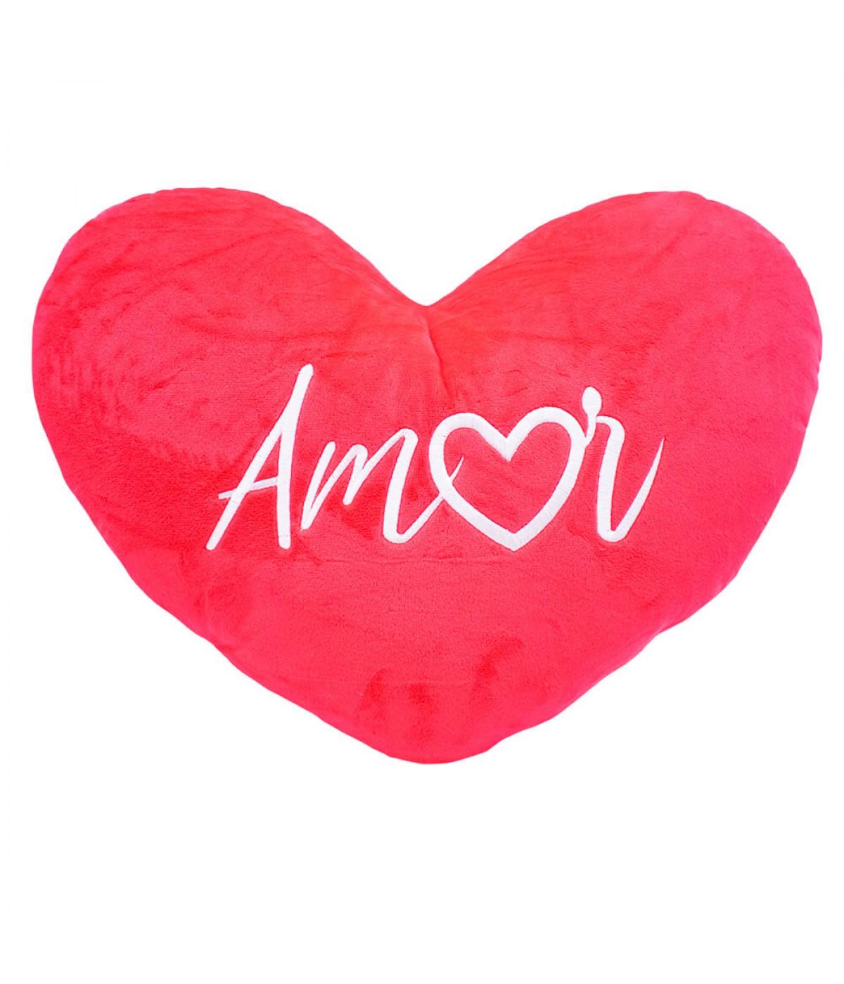 Almofada Coração Amor 30x42cm (Fibra)