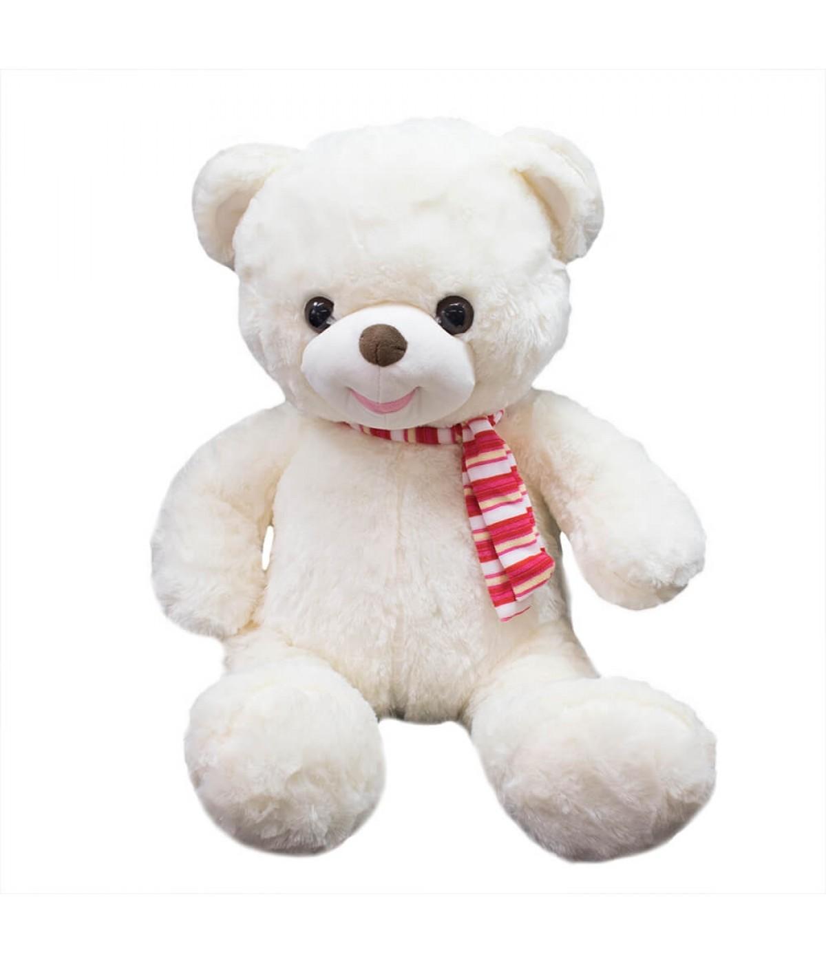 Urso Branco Laço 48cm - Pelúcia