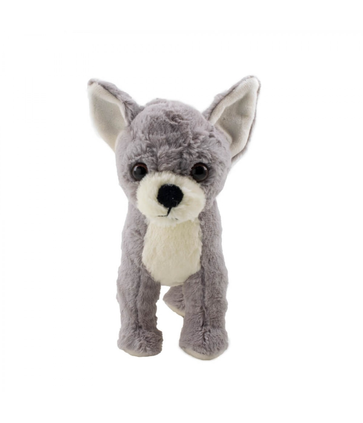 Cachorro Chihuahua Cinza 20cm - Pelúcia