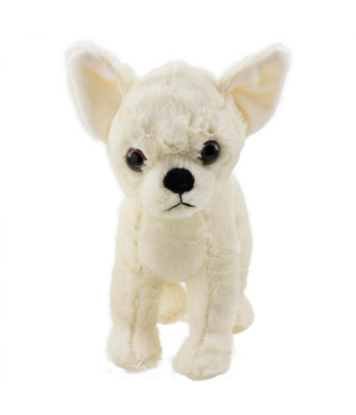 Cachorro Chihuahua Branco 20cm - Pelúcia