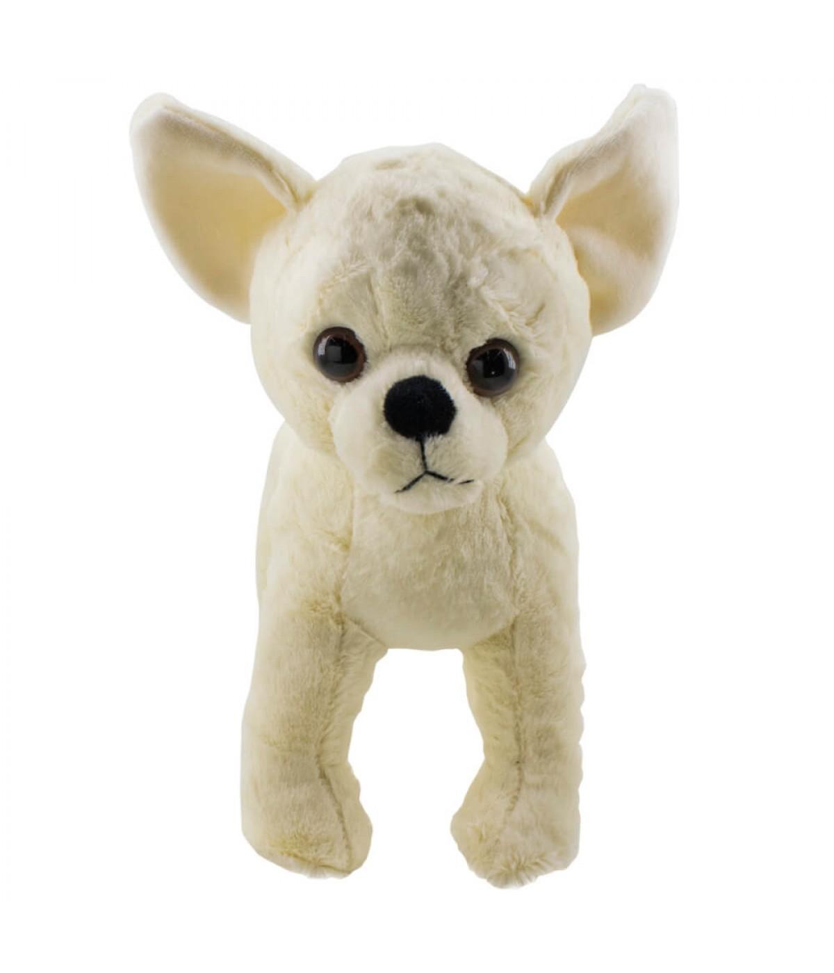 Cachorro Chihuahua Branco 26cm - Pelúcia