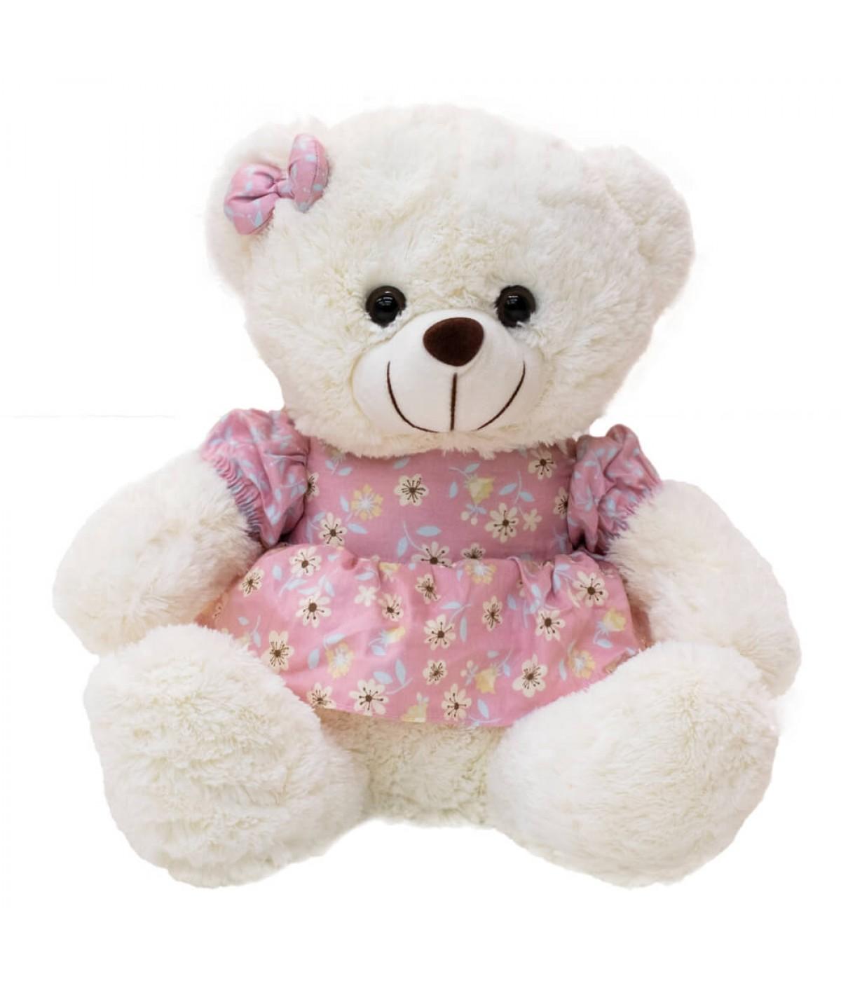 Urso Vestido Florido 30cm - Pelúcia
