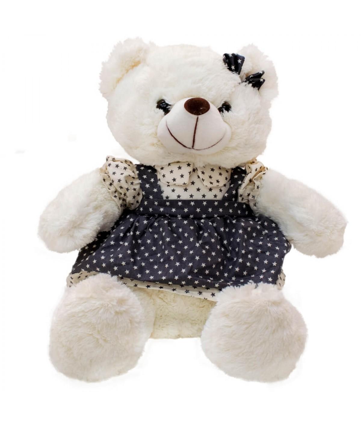 Urso De Saia Suspensório Estrelas 34cm - Pelúcia