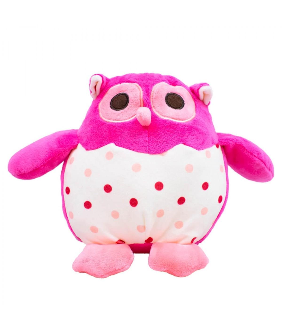 Coruja Pink 17cm - Pelúcia