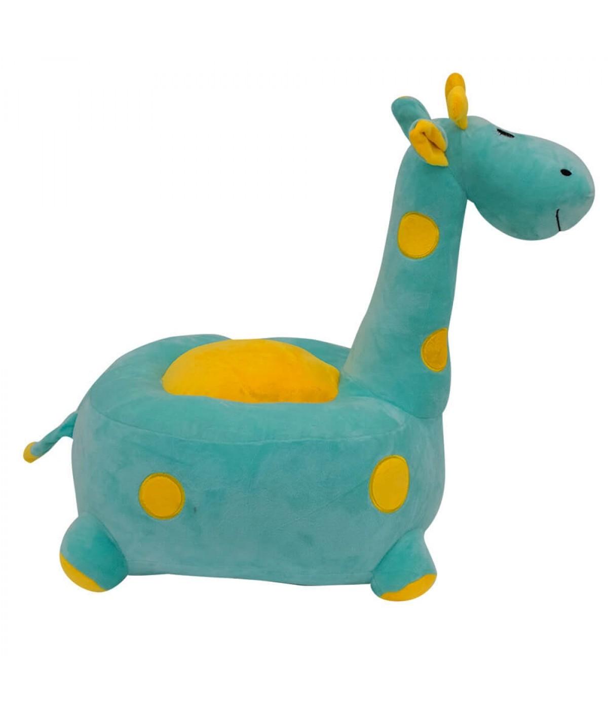 Puff Girafa Verde 48cm - Pelúcia