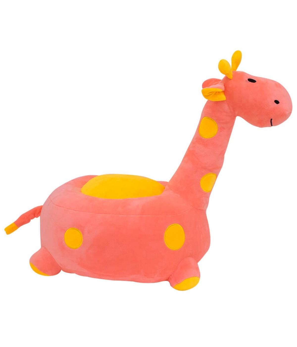 Puff Girafa Rosa 48cm - Pelúcia