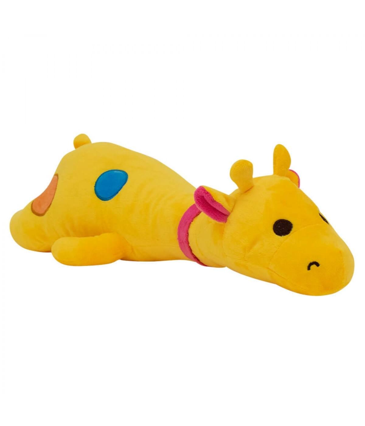 Girafa Deitado Amarelo 50cm - Pelúcia